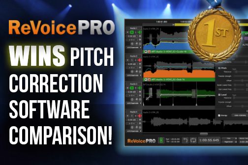 Revoice Pro Wins Pitch Correction Comparison